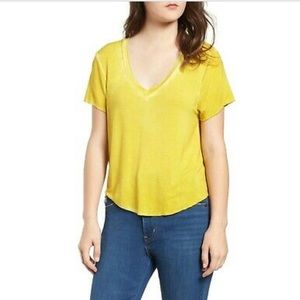 Ten Sixty Sherman yellow v-neck